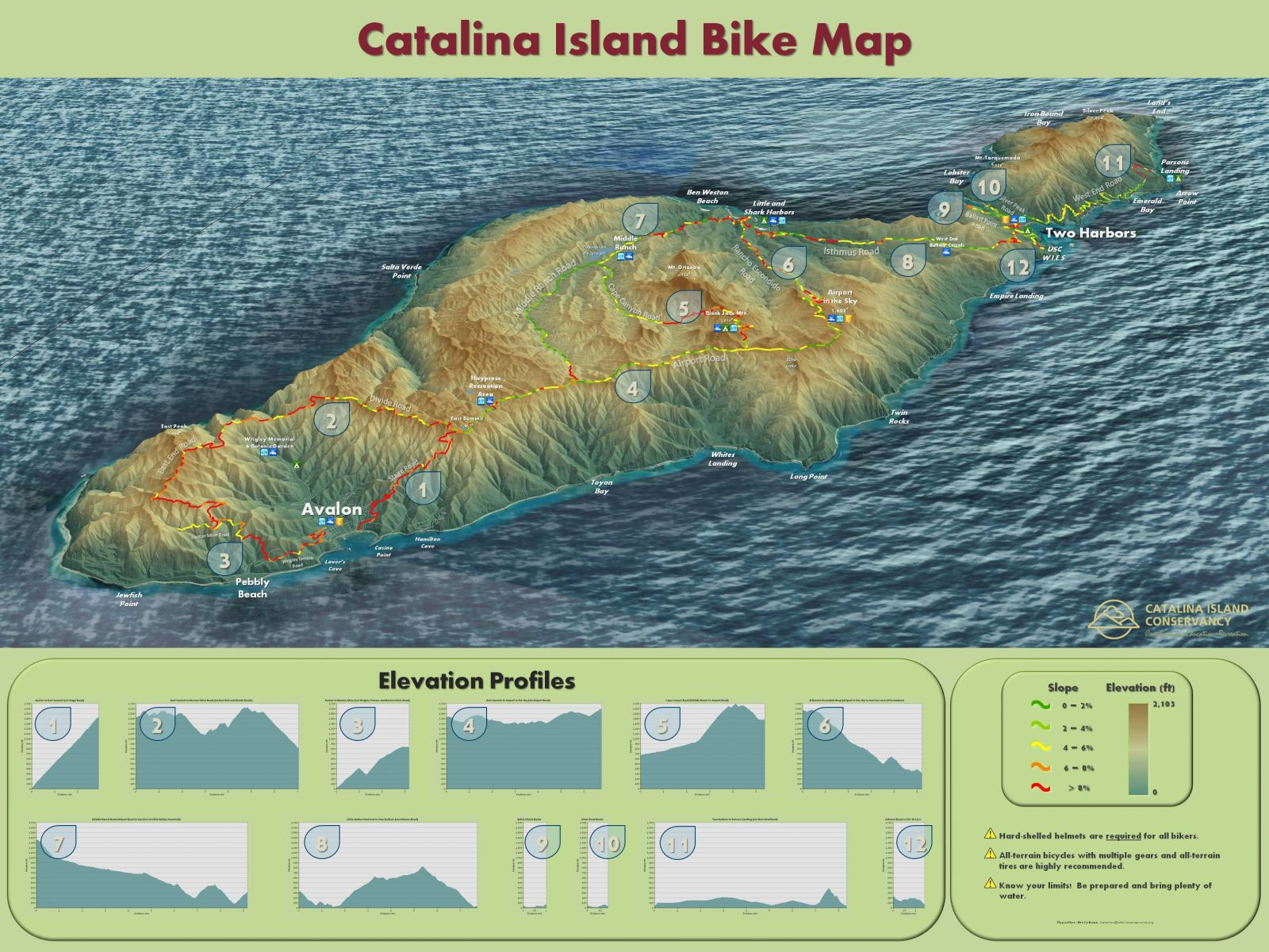 Catalina Island Conservancy Maps on